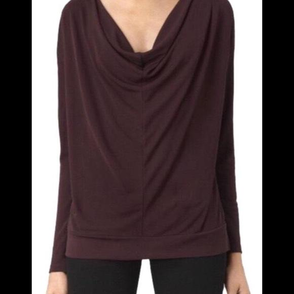NWT All Saints cowl neck deep purple top